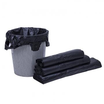 优优 黑色手提垃圾袋 手提塑料袋 购物袋 (30*45mm) 单卷 30个装/卷