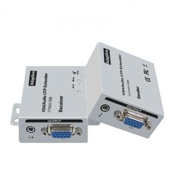 VGA网络延长器100米 音视频同步传输 vga单网线 信号放大器